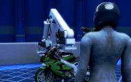 组装摩托车生产线机械演示动画