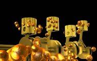 发动机配件三维展示动画